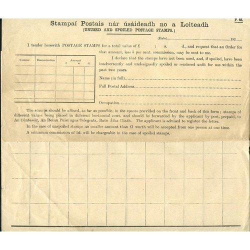 1028 - 1840-47 1d red Newspaper Stamps on The Irish Ecclesiastical Journals (48), two letter bills to the U...