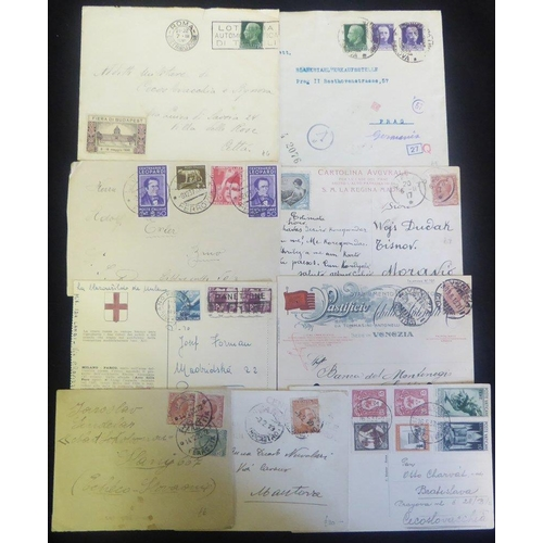 1040 - c1918-40's incl. censored 1919 consular cover, WWII German censorship railway cancellations etc. plu...