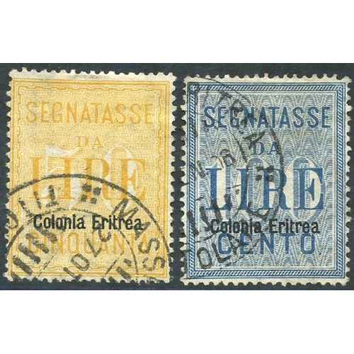 1044 - 1905 Postage Due set VFU, SG.D41/2 (2) Cat. £515...
