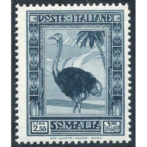 1046 - 1935-38 Pictorial Series 2L.55 Ostrich P.14 UM, Sass 1000€+...