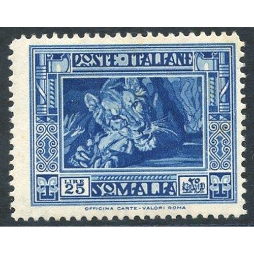 1047 - 1935-38 Pictorial Series 25L Lion P.14, M (minor tones), Sass 230, Cat. 1200€...