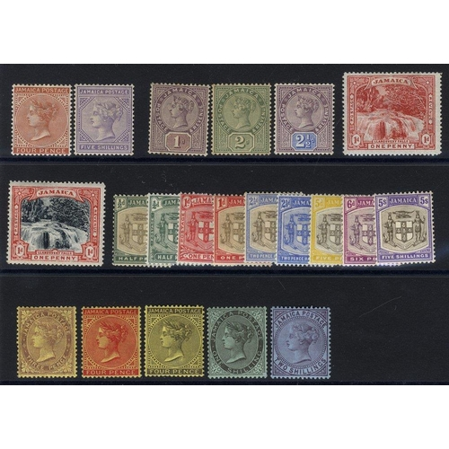 1052 - 1883-97 4d & 5s M, 1889 set M, 1900 1d Falls M (both), 1905-11 Arms set M, QV Heads 3d, 4d (both), 1...