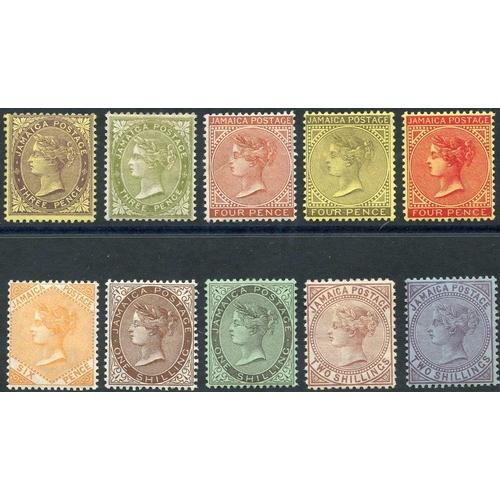 1053 - 1905-11 QV set (excl. 6d - SG.52), fine M, SG.46/56 (10) Cat. £250...