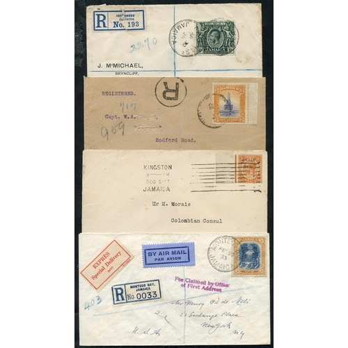1055 - KEVII-KGV selection of covers incl. 1917 War Tax 11/2d with overprint inverted, used on 1917 local e...