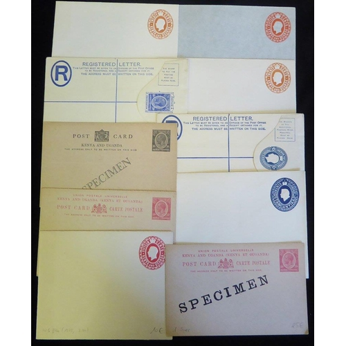 1060 - 20thC range of elusive postal stationery cards & reg envelopes, FU incl. KGV, KGVI & QEII & several ...