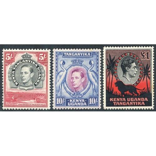 1068 - 1938-54 5s, 10s & £1, SG.148b, SG.149, SG.150a. (3) Cat. £230...