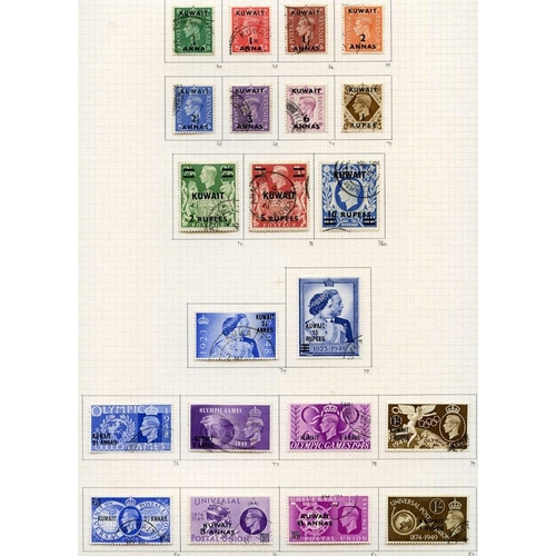 1076 - 1939-51 collection U on philatelic leaves with basic issues complete, generally fine but the 1939 2r...