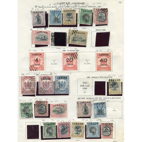 1080 - 1883-1904 M & U remaindered rather untidy collection on printed leaves, some slight duplication & co...