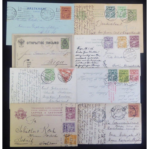 1086 - Postcards - mainly 1920's-30's but incl. 1885 Russian item, most are PPC's with a good variety of fr...