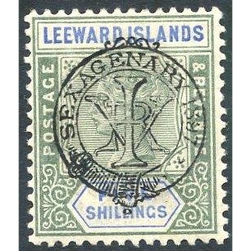 1090 - 1897 Diamond Jubilee 5s green & blue fine M, SG.16. (1) Cat. £450...