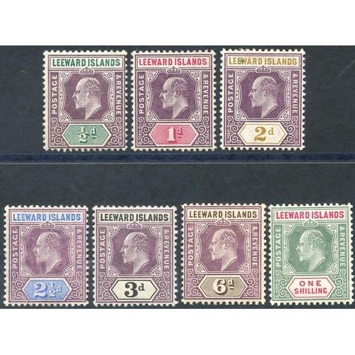 1091 - 1905-08 MCCA set M, SG.29/35. (7) Cat. £200....
