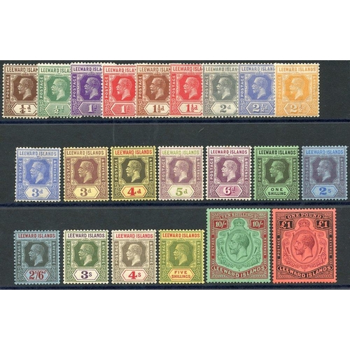 1095 - 1921-32 MSCA set, fine M (3d has crease & 6d small tone o/w a very fresh set), 10s £1 are UM, SG.58/...
