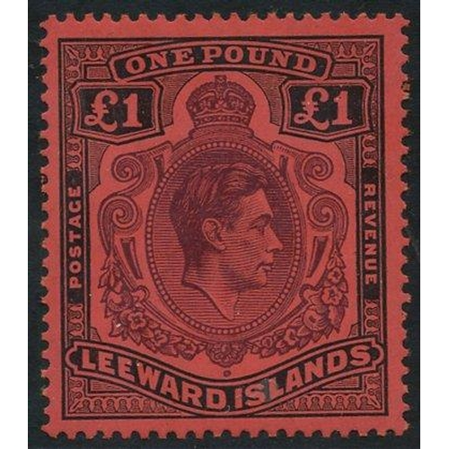 1096 - 1938 £1 brown-purple & black/red, fine UM - usual gum toning, SG.114, Cat. £375...