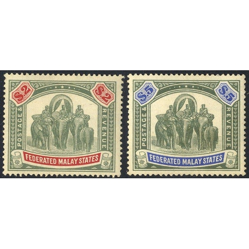 1107 - 1900-24 M & U ranges on leaves incl. 1900 Tigers to 50c U, 1904 Tigers to 35c M, & 35c U, 1905-14 $2...