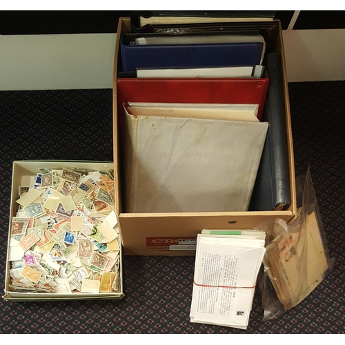 111 - ACCUMULATION in carton incl. New Zealand collection (ST.Cat. £800), GB with duplicated U KEVII & GB ...