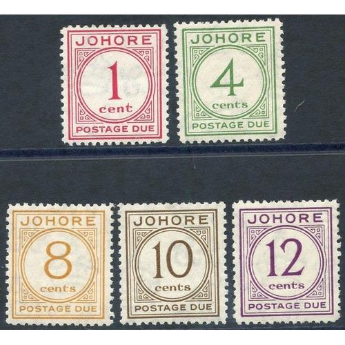 1113 - JOHORE 1938 Postage Due set, fine M, SG.D1/5. (5) Cat. £200...