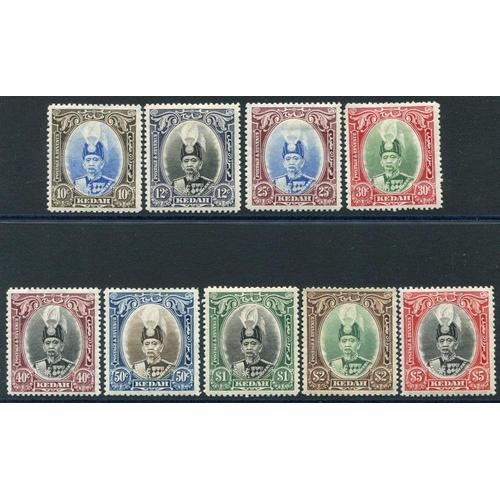 1114 - KEDAH 1937 MSCA set M, SG.60/68. Cat. £275...