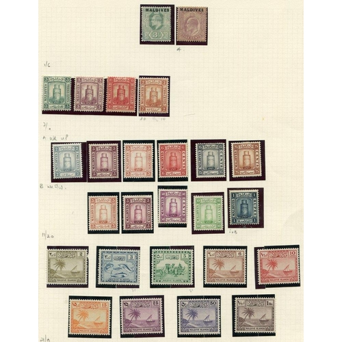 1127 - Collection on leaves M incl. 1906 3c & 5c, 1909 to 10c, 1933 vals to 1r, 1950 to 1r, 1956 set, good ...