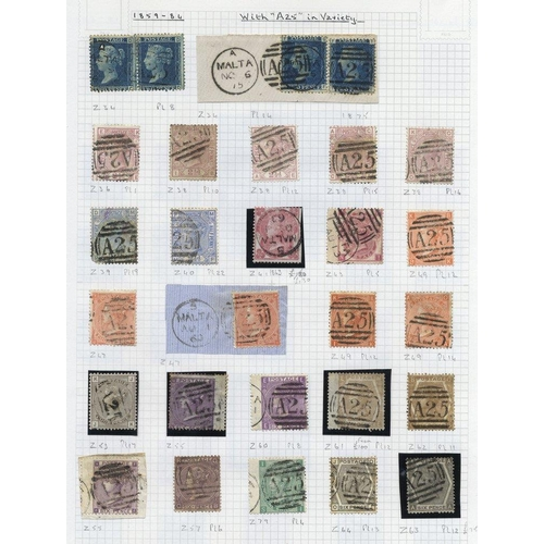 1128 - QV-QEII M & U collection housed in a Crown album commencing with a useful range of GB used in Malta ...