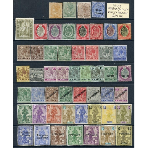 1132 - 1882-1990's accumulation on album pages & hagner leaves. Noted 1885 to 1s (2) U, 1899 2/6d olive gre...