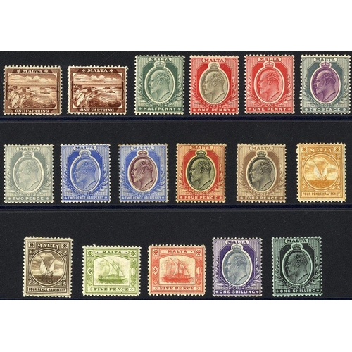 1136 - 1904-14 MCCA set to 1s (both) M (4d fault & odd tone noted), SG.45/62. (17) Cat. £250...