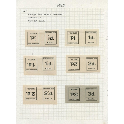 1141 - 1925-93 Postage Dues M & U collection on leaves incl. 1925 set M & FU, also M set of tete-beche pair...
