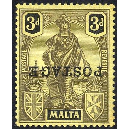 1142 - 1926 POSTAGE 3d overprint INVERTED, M with traces of toning (as usual), SG.149a. (1) Cat. £170...