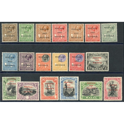 1144 - 1928 Postage & Revenue optd set, fine M, SG.174/92. (19) Cat. £200...
