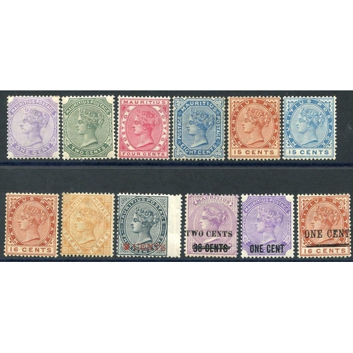 1154 - 1883-94 CCA 1c to 50c incl. both 15c, plus 1887 2c on 13c slate & 1891 2c on 38c on 9d, 1893 1c on 2...