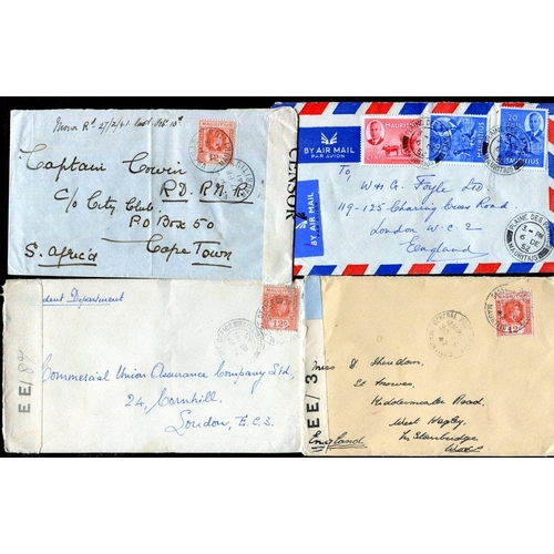 1159 - 1895 group of commercial covers with 1895 six stamp franking & another 1911 four stamp franking used...