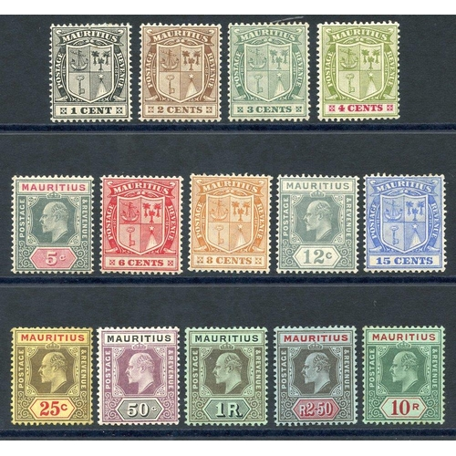 1162 - 1910 MCCA set (excl. 5s), M (10s some tones around edges), SG.181/195. (14) Cat. £270...