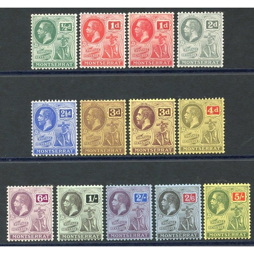 1168 - 1916-22 MCCA set + extra 1d & 3d shades, fine M, SG.49/59. (13) Cat. £130...