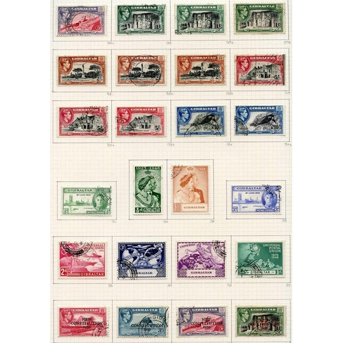 118 - KGVI COLLECTION 1937-52 of British Europe U on philatelic leaves with Channel Islands (29), Cyprus (...