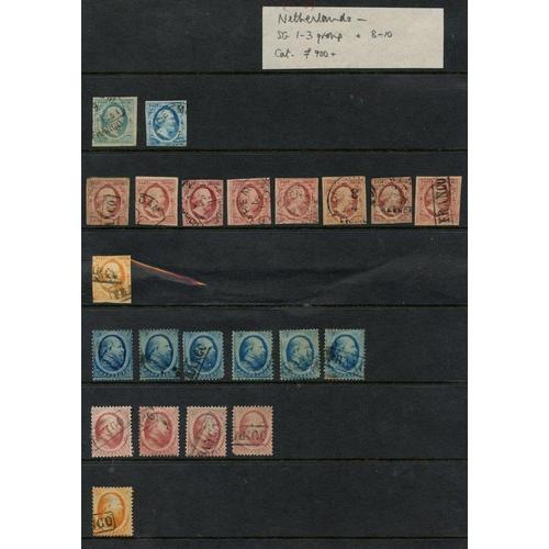 1180 - 1852-63 5c blue (2), 10c carmine (8) & 15c, 1864 5c (6), 10c (4) & 15c - all U in mixed condition. (...