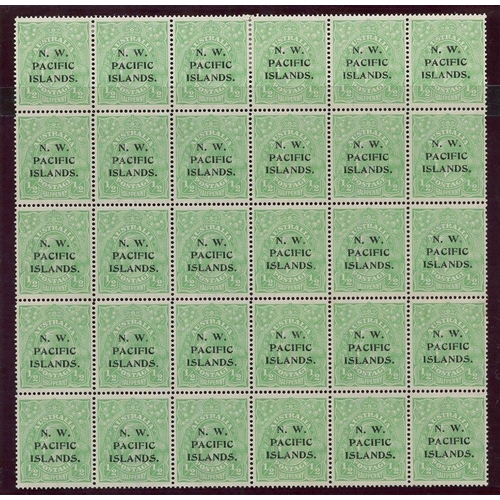 1183 - 1915 (Jan-Mar) second wmk ½d green complete formes from - Fourth Setting (2) - both Electro 5, [1-30...