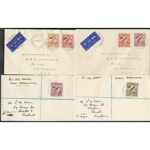 1186 - Airmails: 1931 (Aug. 14) cover from Madang to Wau bearing 1931 Air ½d and 11/2d, 1932 (July 19) cove...