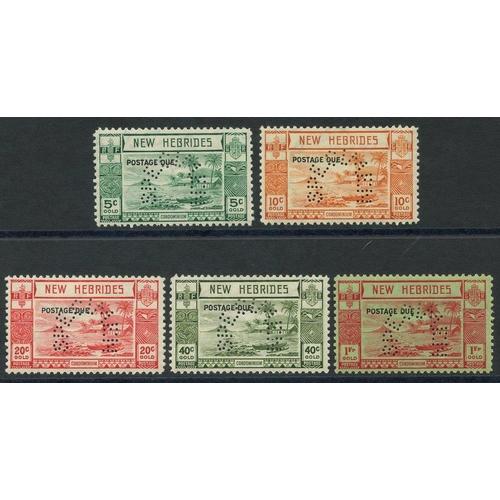 1189 - 1938 Postage Due set, perforated SPECIMEN, fine M, SG.D6/10. (5) Cat. £160...