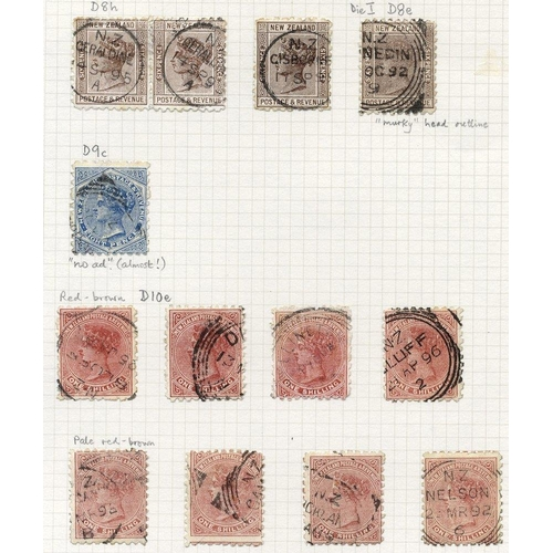 1200 - 1891-95 QV Profile Heads P. 10 fine to FU range on leaves, from ½d (9), 1d (21), 2d (23), 2½d (8), 3...
