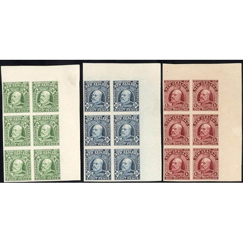 1206 - KEVII DEFINITIVE COLLECTION on leaves commencing with 1909-16 imperforate Plate Proofs in corner mar...