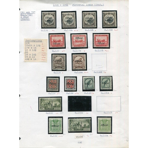 1208 - 1927-61 fine M (many UM) range of Officials incl. 1927 1d Admiral (3 diff), 2s Admiral, 1936-61 set ...