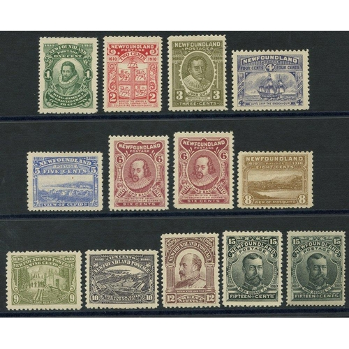 1217 - 1910 Pictorial set, fine M, extra 15c shades (slate green), SG.95/105, 116. Cat. £540...