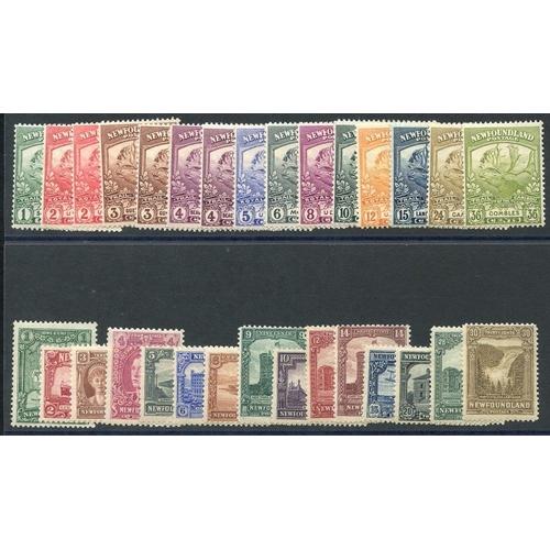 1219 - 1919 Contingent set, fine M, SG.130/141, 1928 Publicity set, fine M, SG.164/78. (30) Cat. £300+...