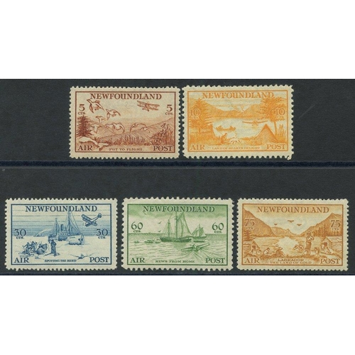 1223 - 1935 Air set, fine M (60c pulled perf at top), SG.230/4. (5) Cat. £160...