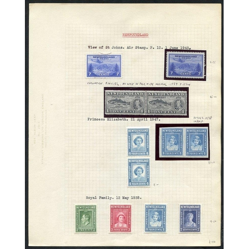 1224 - 1937-47 M range on leaves incl. 1937 Coronation Long set with perf varations + extras incl. 1c pair ...