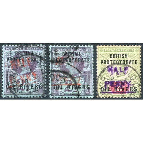 1229 - 1893 (Type 5) ½ in vermilion on 2½d purple on blue, plus ½d in vermilion (Type 7) on 2½d purple on b...