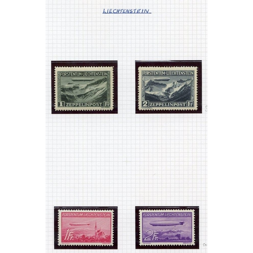 123 - AIR STAMPS M or UM in a Prestige album, several better items incl. France 1949 set (Cat. £350), Liec...