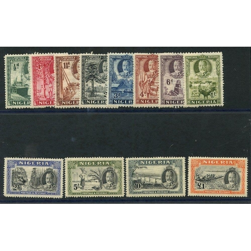 1242 - 1936 Pictorial Defin set, fine M (10s gum crease), SG.34/45. (12) Cat. £225...