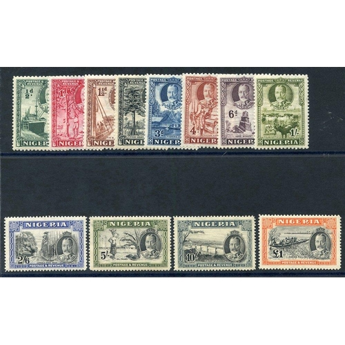 1243 - 1936 Pictorial Defin set, fine M, SG.34/45. (12) Cat. £225...