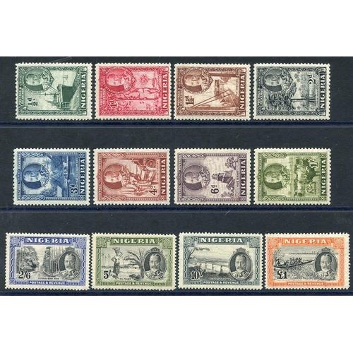 1244 - 1936 Pictorial Defin set, fine M, SG.34/45. (12) Cat. £225...