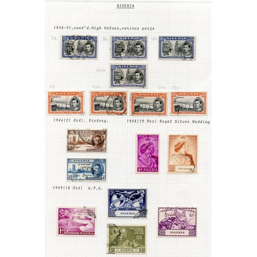 1246 - 1937-49 KGVI collection VFU incl. 1938 vals to 5s (4), 1948 Wedding set. SIERRA LEONE 1937-49 incl. ...